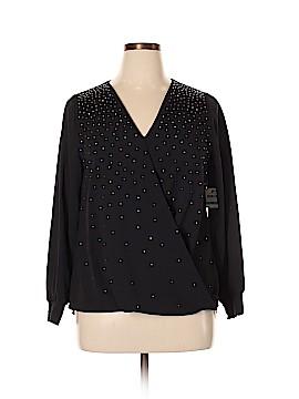 Alfani Long Sleeve Button-Down Shirt Size 0X (Plus)