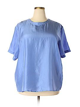 BEDFORD FAIR lifestyles Short Sleeve Silk Top Size 2X (Plus)