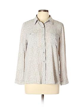 Ann Taylor LOFT Outlet Long Sleeve Blouse Size L (Petite)
