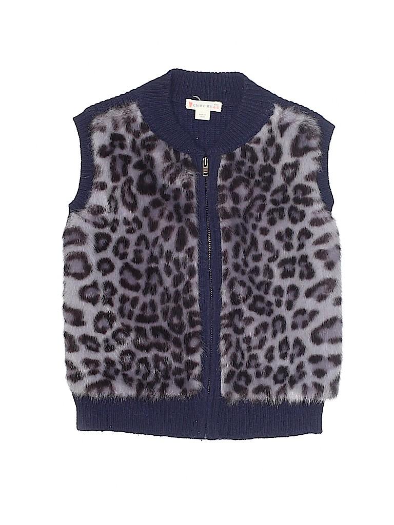 70c701c9e5b5 Crewcuts Animal Print Dark Blue Faux Fur Vest Size 4 - 5 - 76% off ...