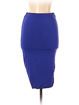 S.L. Fashions Denim Skirt Size M