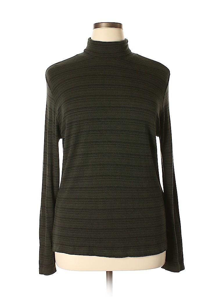00dbd239e210a White Stag Stripes Dark Green Long Sleeve Turtleneck Size XL - 44 ...