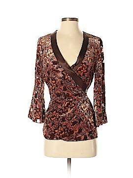 Jaloux 3/4 Sleeve Silk Top Size S