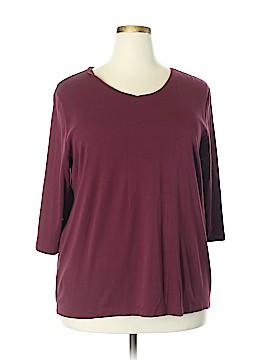 Cj Banks 3/4 Sleeve T-Shirt Size 2X (Plus)