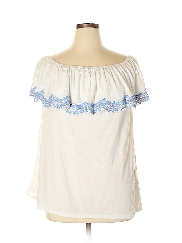 Style&Co Women Short Sleeve Top Size 1X (Plus)
