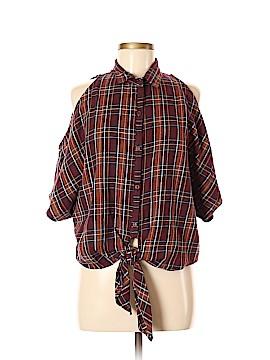 Solemio Short Sleeve Button-Down Shirt Size M