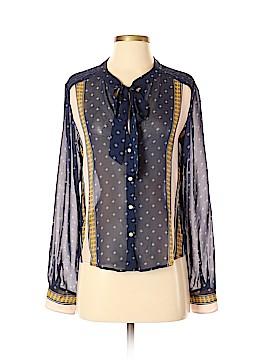 Dolce Vita Long Sleeve Silk Top Size S