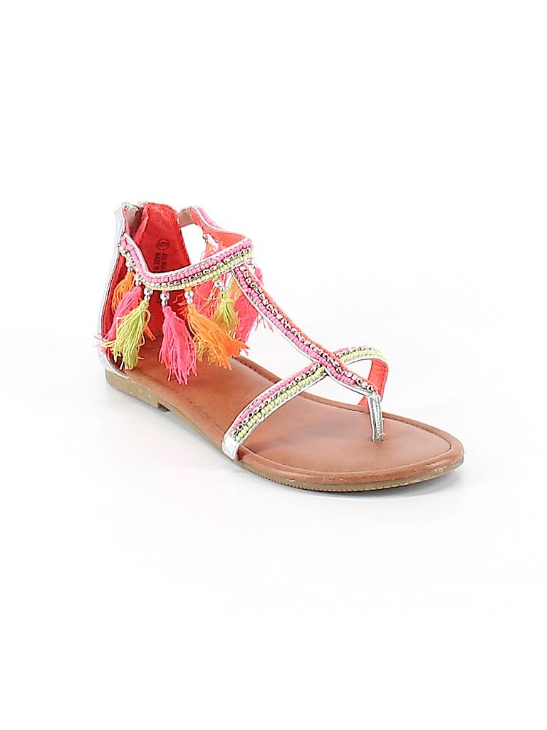 Justice Solid Light Pink Sandals Size 6 73 Off Thredup