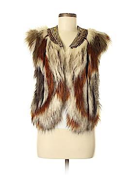 Twelfth Street by Cynthia Vincent Faux Fur Vest Size M
