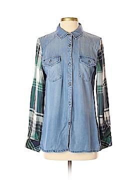 ABS Allen Schwartz Long Sleeve Button-Down Shirt Size S