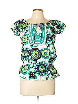 Sequin Hearts Short Sleeve Blouse Size L