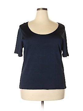 Linda Allard Ellen Tracy Short Sleeve Silk Top Size 2X (Plus)