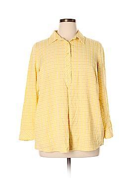 Cj Banks Long Sleeve Button-Down Shirt Size 1X (Plus)