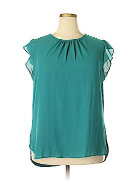 Ann Taylor LOFT Short Sleeve Blouse Size XXL