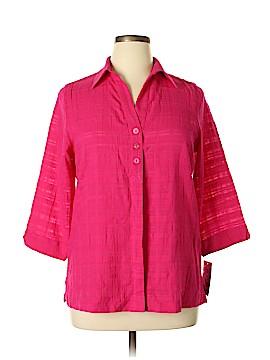 Alia 3/4 Sleeve Button-Down Shirt Size 10