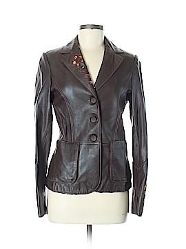 Lillie Rubin Leather Jacket Size 6
