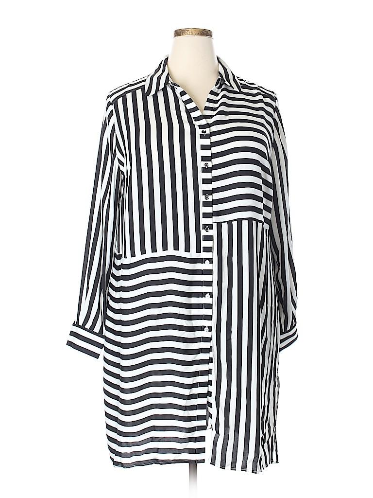 30ce5158d61 INC International Concepts 100% Polyester Stripes Black Long Sleeve ...