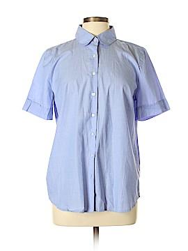 Ann Taylor Short Sleeve Button-Down Shirt Size L