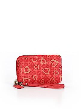 Coach Heart Poppy Leather Wristlet One Size