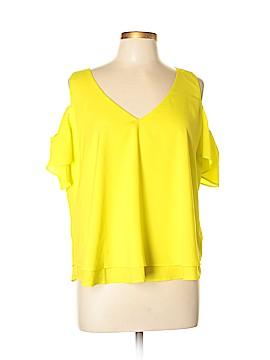 Bisou Bisou Short Sleeve Blouse Size L