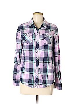 Arizona Jean Company Long Sleeve Button-Down Shirt Size M