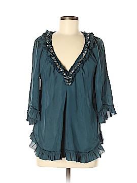 Rebecca Taylor 3/4 Sleeve Silk Top Size 6
