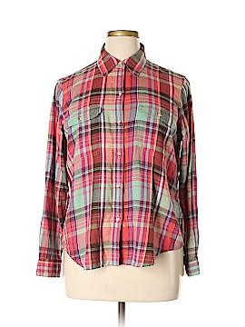 Chaps Long Sleeve Button-Down Shirt Size XL (Petite)