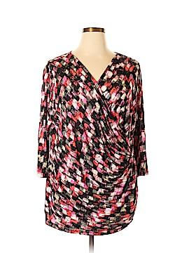 Nic + Zoe 3/4 Sleeve Top Size 3X (Plus)