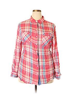 Sandra Ingrish Long Sleeve Button-Down Shirt Size 24 (Plus)