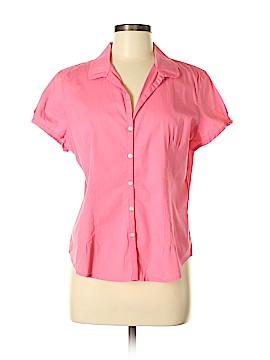 Talbots Short Sleeve Button-Down Shirt Size M