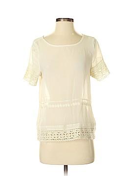 August Silk Short Sleeve Blouse Size S