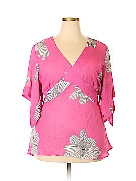 Allison Taylor Short Sleeve Blouse Size 3X (Plus)