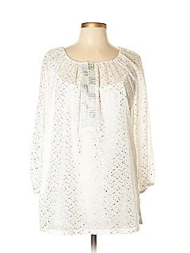 Laura Ashley 3/4 Sleeve Blouse Size L