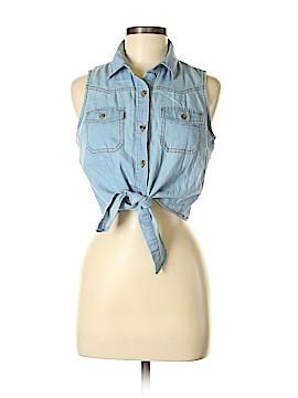 Truth Sleeveless Button-Down Shirt Size M