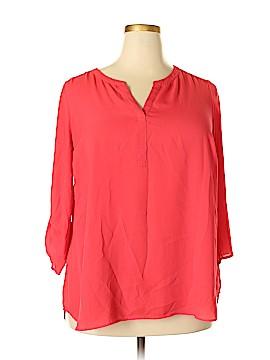 Daniel Rainn 3/4 Sleeve Blouse Size 1X (Plus)
