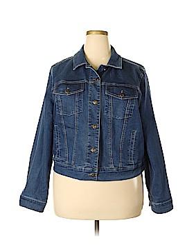 Woman Within Denim Jacket Size 20 (Plus)