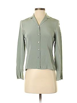 Petite Sophisticate Long Sleeve Silk Top Size 0