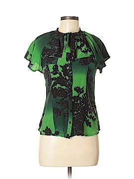 Dept. Short Sleeve Silk Top Size M
