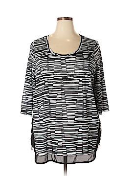 Unbranded Clothing 3/4 Sleeve Blouse Size 2X (Plus)