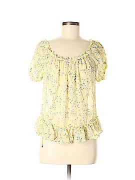 Ulla Johnson Short Sleeve Silk Top Size 8