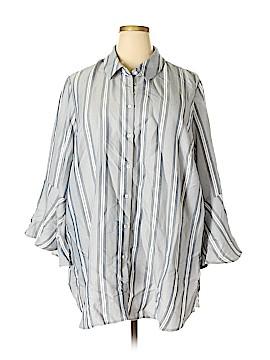 Philosophy Republic Clothing 3/4 Sleeve Button-Down Shirt Size 3X (Plus)