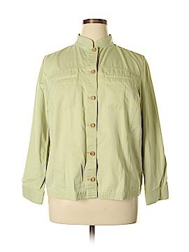Statements Long Sleeve Button-Down Shirt Size 1X (Plus)