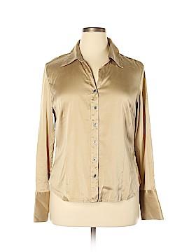Valerie Stevens Long Sleeve Silk Top Size XL