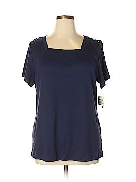 Karen Scott Short Sleeve Top Size 0X (Plus)
