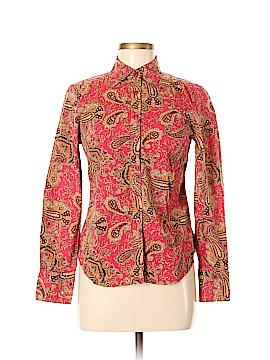Rafaella Long Sleeve Button-Down Shirt Size M