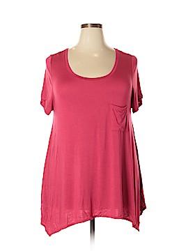 Cynthia Rowley TJX Short Sleeve Top Size 2X (Plus)