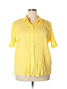 Cj Banks Short Sleeve Button-Down Shirt Size 2X (Plus)