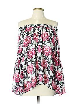 Ann Taylor LOFT 3/4 Sleeve Button-Down Shirt Size L
