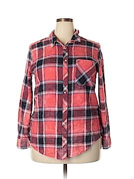 Arizona Jean Company Long Sleeve Button-Down Shirt Size XXL