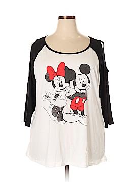 Disney 3/4 Sleeve T-Shirt Size 2X (Plus)